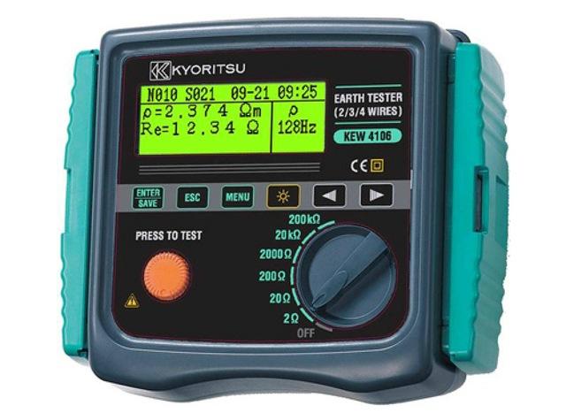 Thiết bị đo điện trở đất - Điện trở xuất của đất Kyoritsu 4106